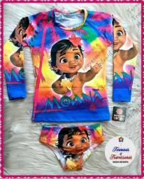 Conjunto Moana Baby Proteção UV50+