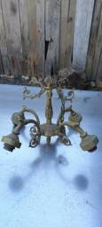 3 luminárias antigas