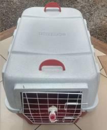 Casa de transporte para cachorro clicknew tamanho 4 com suporte para agua