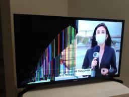 """Smart tv Samsung display trincado 32"""""""
