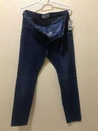 Calça jeans marca nova etiqueta promoção