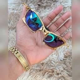 Óculos Oakley Dourado Primeira Linha Polarizado