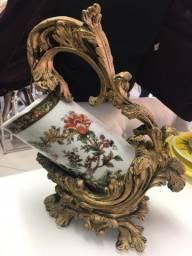 Vaso de decoração importado em cerâmica clássico novo