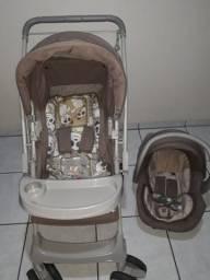 Carrinho de bebê Galzerano Milano Reversível II Panda e bebê conforto.