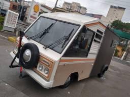 Vw Marcopolo Invel 2.0 gasolina Raríssimo motor home food truck estudo troca