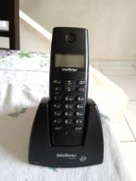 Telefone sem fio Intelbras completo e com identificador de chamadas
