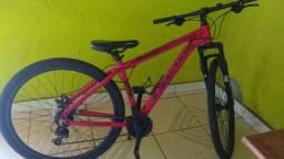 Vendo bicicleta COLLI aro 29 21M 531/26D vermelho fosco