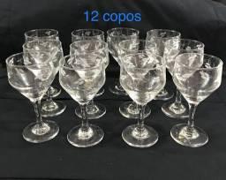 Taças de vidro- lapidadas