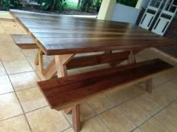 Mesas para churrasqueiras madeira cedrinho