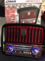 Rádio retrô bluetooth
