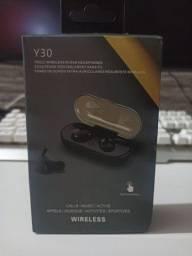 Fone de Ouvido Y30 TWS - Bluetooth (cancelamento de ruído ativo)