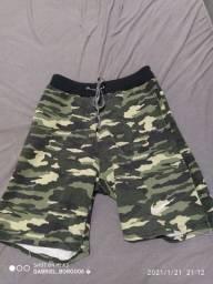 Shorts moletom camuflado