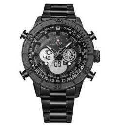 Relógio Masculino Weide AnaDigi WH-6308 Militar - Preto