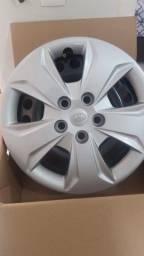 Jogo rodas de ferro novas Creta aro 16 5X114 com calota