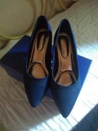 Sapato camurça azul