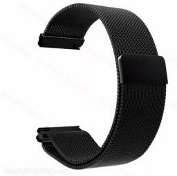 Pulseira de Aço Smartwatch De 20mm Preta