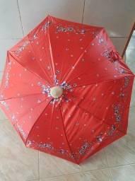 Guarda-chuva colorido com proteção