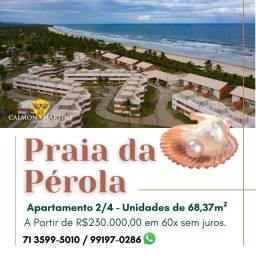 Apartamento 2/4 sendo 1 suíte, Praia da Pérola em Ilhéus - Incrível
