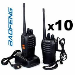 Kit 10 Rádio Comunicador Walk Talk Baofeng 777s 16 canais 8km