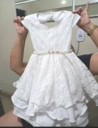 Vestido infantil branco