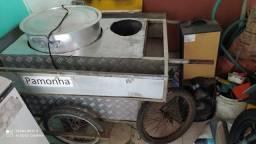 carrinho de milho cozido