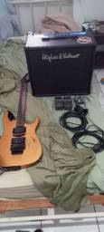 Kit guitarra usado em bom estado.(Está  tudo na descrição oque você precisa saber).