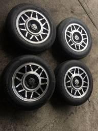 Vendo 4 rodas SNOWFLAKES 14 + pneus KUMHO