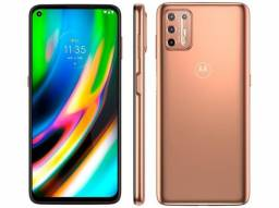 Smartphone Motorola Moto G9 Plus 128GB Ouro Rosê<br><br>
