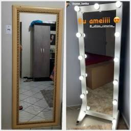 Transforme aquele espelho  velho em um lindo Espelho camarins