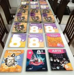 Todos os Livros semi novos escolares do 8° ano sistema SAS