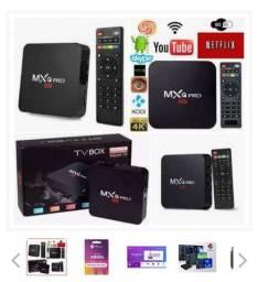 Tv box (com app de tv gratis + jogos )