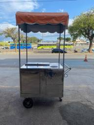 carrinho de hot dog com toldo