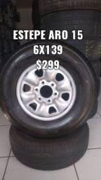 Estepe aro 15 para caminhonete pneu 235/75/15 DISK ENTREGA