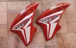 Peças arranhadas CG 150 titan 2015 vermelhas originais