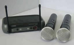 Kit Microfone Sem Fio Duplo Weisre no PGX-51 UHF Profissional Bivolt