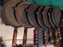Chapa de ferro fundido antigo
