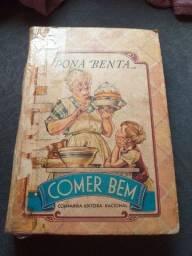 Livro de receitas dona benta antigo