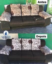 Higienização de estofado sofá
