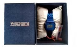 Relógio Feminino Retrô Azul