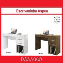 Escrivaninha com 2 gavetas Aspen (Promoção)