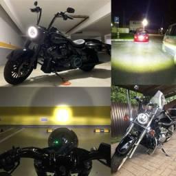 Título do anúncio: Farol LED Harley Davidson Sportster Softail Deluxe Road King Breakout Fat Boy