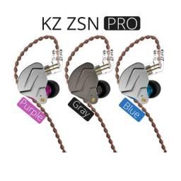 Fone de ouvido / Retorno de palco Kz ZSN Pro + Brinde