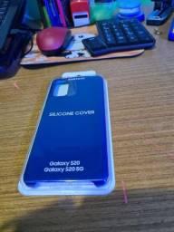 Capa silicone S20 azul marinho.... lacrada e original da Samsung