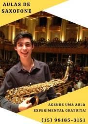 Aula semanais de Saxofone (online ou presencial)