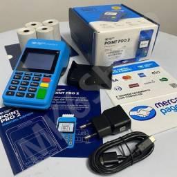 Máquina de cartão de crédito- imprime comprovante point pro 2, point mini Chip, point mini