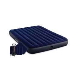 Título do anúncio: Colchão inflável  152x203x25cm com dois travesseiros infláveis