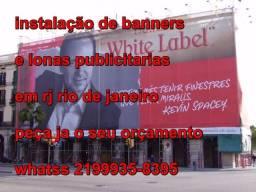 Impressão e Instalação de banners outdoors lonas publicitarias rj rio de janeiro