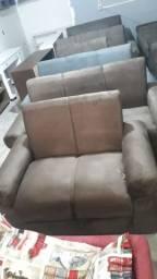 Conjunto de sofá 2 e 3 lugares (novo)