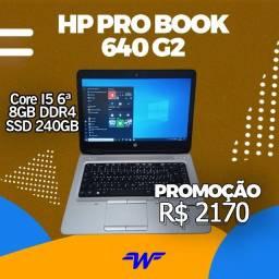 Notebook HP Probook 640 G2 i5-6300U ( 6ª Geração ) 8Gb DDR4 - SSD 240 Gb