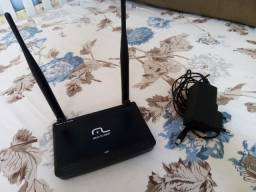 Roteador/repetidor multilaser (usado) 300 mbps bi-volts 2 antenas mini- reo60
